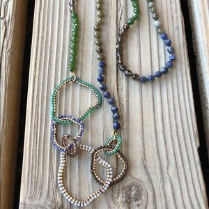 """Anthropologie Chan Luu 44"""" Rare Beaded Necklace!"""